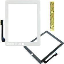 NEW iPad 4 A1460 Replacement Digitizer Touch White with Fixing Tape Included -UK