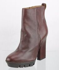Women's Alberto Fermani Burgundy Leather Ankle Boots Shoes Size 5 M NEW