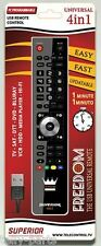 Superior Freedom 4-in1 PC Programmable Universal Remote Control (Black)