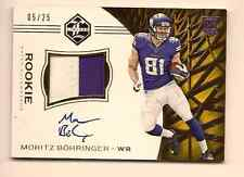 MORTIZ BOHRINGER 2016 PANINI LIMITED FOOTBALL ON CARD ROOKIE PATCH AUTO /25