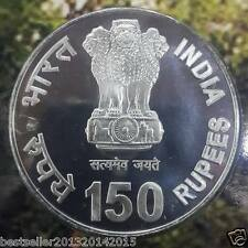 Rare 2011 150 RS SILVER  RAVINDER NATH TAGORE UNC COIN IN BRILLIANT CONDITION
