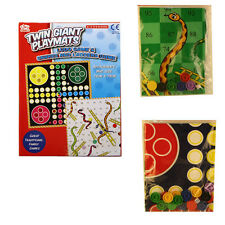 A to Z Twin Giant Playmats Ludo & Snakes & Ladders Game 2 to 6 Players Age 3+