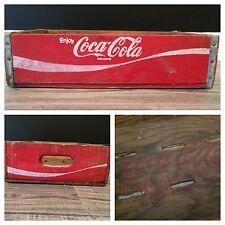 (#7) Vintage Rare Red Coke Coca Cola Wood Soda Pop Case Crate Graphics Inside