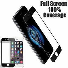 "Full Coverage HD Tempered Glass Film Screen Protector for 4.7"" iPhone 7 Black"