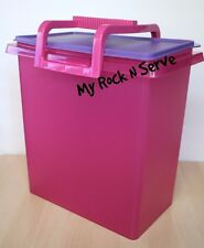 TUPPERWARE Carry All Takes A Lot with Handle Fushia Pink/Purple13.5Qt/58 Cup New