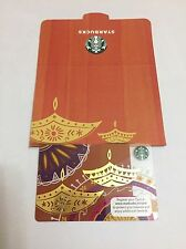 Starbucks Gift Card .. INDIA Diwali 2016 .. Pin Intact And With Sleeve