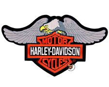 HARLEY DAVIDSON DOWN WING EAGLE BAR AND SHIELD PATCH ** XL ** DISCONTINUED