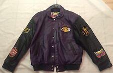 Lakers 2001 Back 2 Back NBA Championship Jeff Hamilton Leather Jacket Sz L Mint