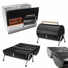 BBQ Barbecue Charcoal Grill Kettle Portable Small Foldable Barrel Camping Garden