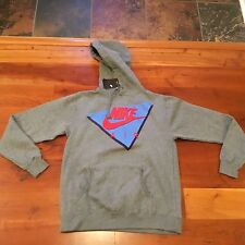 New Nike Air Vintage Pullover Fleece Hoodie Mens Sz MEDIUM Top Shirt Grey Tech
