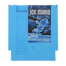 New Ice Mario SMB1 Hack 72 Pin 8 Bit Game Card Cartridge for NES Nintendo Blue