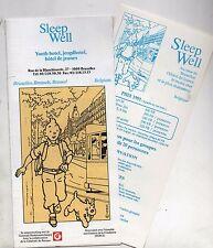 Tintin. Livret pour Hôtel de Jeunes à Bruxelles; 1991. SLEEP WELL. (réf. 81/42)