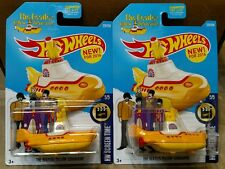 2016 Hot Wheels THE BEATLES YELLOW SUBMARINE HW Screen Time Lot of 2 TWO