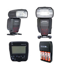 TWO Yongnuo YN600EX-RT Flash TTL HSS For Canon + Wireless Transmitter YN-E3-RT