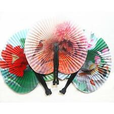 1pc New Retro Folding Small Round Paper Hand Fan Cool Summer Gift for Kids Child