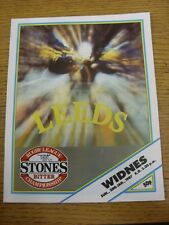 25/01/1987 Rugby League Programme: Leeds v Widnes  . Thanks for viewing this ite