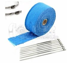 """BLUE LAVA EXHAUST PIPE HEAT WRAP 2"""" x 25' MOTORCYCLE HEADER INSULATION"""