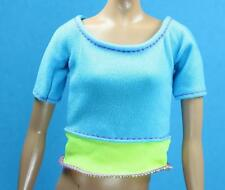 Barbie 2016 Made To Move Knit Stretch Yellow Blue Pullover Yoga Shirt