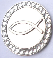 Infinity Fish Golf Ball Marker with Crystals - Package of 2