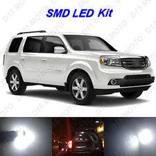 22x  2006-2015 Honda Pilot Ultra White LED Interior Bulbs + Fog+ Reverse Lights