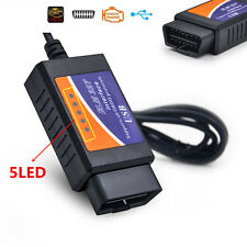 New ELM327 Scanner Software USB Plastic OBD2 Diagnostic Tool with FT232RL Chip