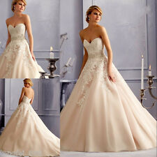 Ivory White Wedding dress Bridal Gown Bridesmaids' size 6 8 10 12 14 16 18 20