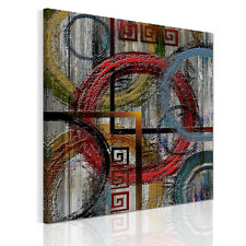 HD Canvas Prints Decor Wall Art Painting Picture-Retro Abstract Circles Unframed