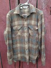 Vtg 80s Plaid WOOLRICH Wool Button Up Shirt Jacket Size M Buffalo Lumberjack USA
