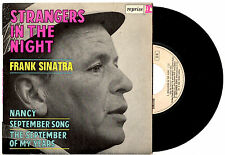 """FRANK SINATRA - STRANGERS IN THE NIGHT - RARE FRENCH EP 7""""45 RECORD PIC SLV 1966"""