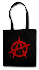 ANARCHY A VINTAGE LOGO Hipster Shopping Bag - Cyber Punk Gothic Rocker Symbol
