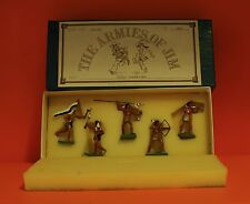 THE ARMIES OF JIM LEAD FIGURES SET #WW 102 SIOUX WARRIORS  - 100% ORIGINAL  L