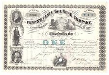 1890 Pennsylvania Railroad Company PA Stock Certificate No. 389446