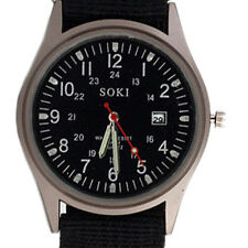 B3 new SOKI Quartz Military Army Sport Men's Wrist Watch Dial Calendar Alloy