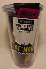 BATMAN Boxer Brief & Tumbler Gift SET Small NEW BioWorld DC Comics