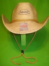 PETERBILT HAT / STRAW / COWBOY STYLE TRUCKER HAT / * FREE SHIPPING IN U.S.A. *