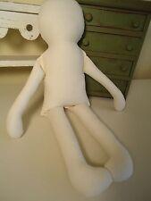 """20"""" Primitive Doll Body-form-blank- muslin-cloth Rag doll-katiesdolls-craft"""