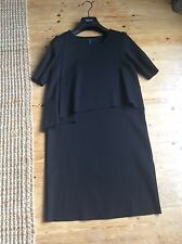 Cos black layered front dress size xs