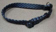 Navy/Light Blue Woven Dog Collar