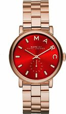Marc by Marc Jacobs 'Baker' Red Dial Rose Gold-tone Steel Ladies Watch MBM3344