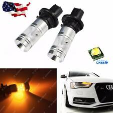 2x Pure Amber PH24WY Error Free CREE LED Front Turn Signal Light Bulbs