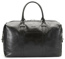 "Kenneth Cole A Duff Idea Deluxe Leather 20"" Carry On Duffel - Black"