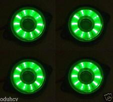4x Rotante Running 12V LED Verde Luce Di Indicatore Laterale Camion Furgone