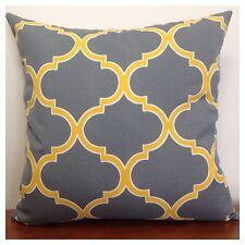 45x45cm Richloom Indoor/Outdoor Grey/Yellow Moroccan Cushion Cover