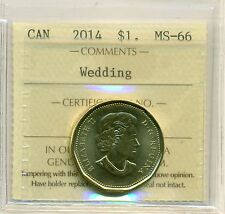 2014 Canada One Dollar Wedding ICCS MS-66