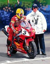 Honda VTR SP1 Joey Dunlop  Isle of Man TT Motorcycle Racing Motorbike Art Print