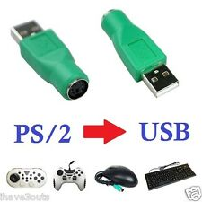PS/2 Female To USB Male Cable Plug Adapter Computer Mouse Joystick PS2 Convertor