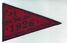 2012 UPPER DECK ALABAMA FOOTBALL 1926 NATIONAL CHAMPIONSHIP PENNANT THE TICKETS
