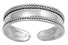 New Sterling Silver Tribal Bali Adjustable Midi Toe Ring