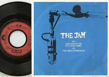 THE JAM JUST WHO IS THE 5 O`CLOCK HERO GERMAN DUTCH 45+PS 1982 MOD REVIVAL WHO
