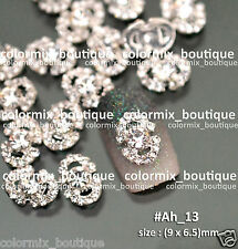 10pcs Nail Art Decoration (9 x 6.5)mm Alloy Jewelry Glitter Rhinestone #Ah_13